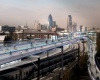 В Лондоне над автомобильными дорогами будет построена дорога для велосипедистов
