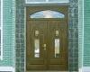 Двухстворчатые входные двери - оригинальное дизайнерское решение