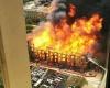 Пожар в недостроенном жилом комплексе Хьюстона
