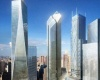 С Всемирного Торгового Центра в Нью-Йорке продолжают падать ледяные глыбы