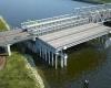 Дождь препятствует продолжению строительства моста через Скаджит