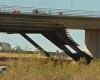 Обрушение моста при строительстве: есть жертвы