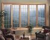 Конструкция деревянного окна предлагает множество дизайнерских решений